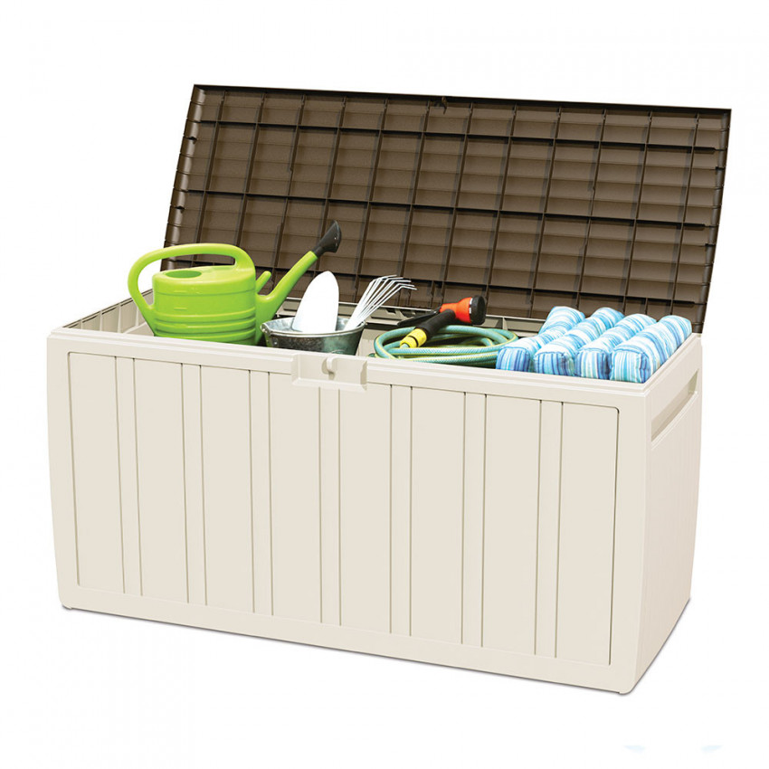 Chest For Outdoor 270 Liters Of Resin Beige 117x45,5x57cm GH91