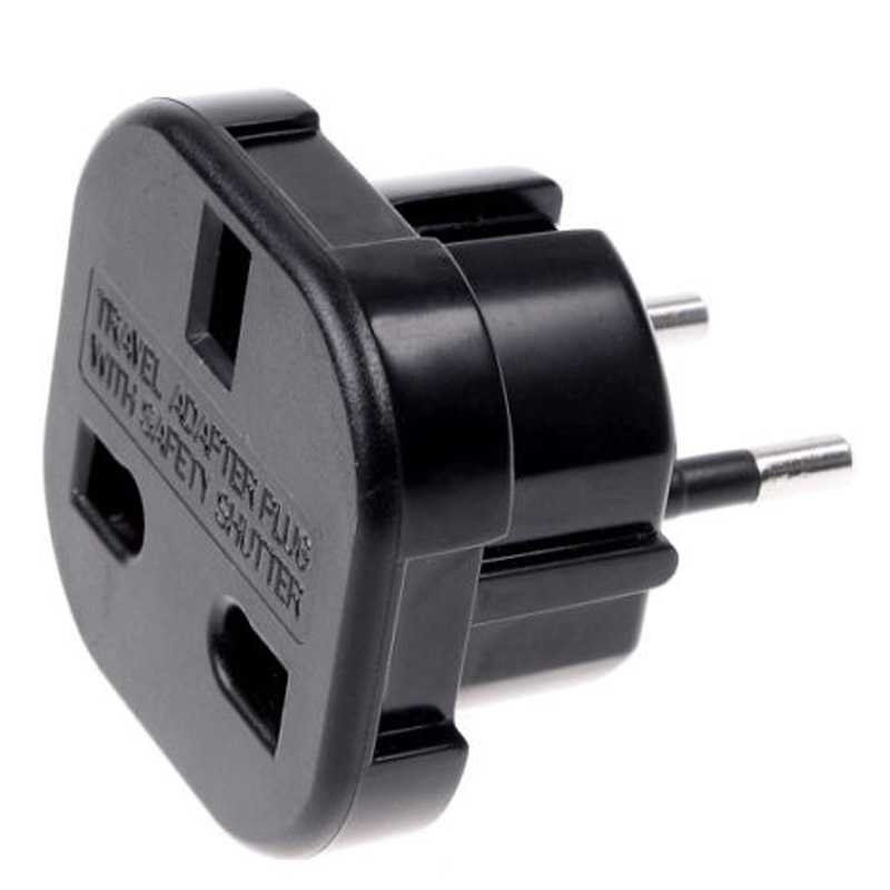OcioDual Adaptador Enchufe UK Ingles Reino Unido A Europeo UE Universal Adapter Corriente Red Plug Para Enchufes De Ingleses EU