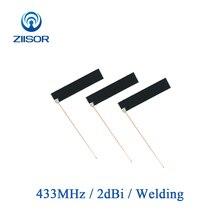 5 sztuk 433MHz Lora antena wewnętrzna 433M Omni antena pcb moduł bezprzewodowy Bluetooth wbudowany DTU antena Z61 B433HJ5PCB4510