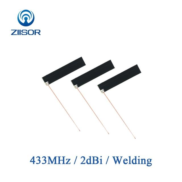 5pcs 433MHz לורה פנימי אנטנת 433M Omni PCB אנטנה אלחוטי מודול Bluetooth מובנה DTU אווירי Z61 B433HJ5PCB4510