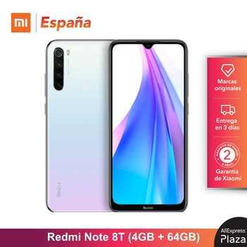 Xiaomi Redmi Note 8T (64GB ROM, 4GB RAM, 13MP Frontal Cámara, Batería de 4000 mAh, Android, Nuevo, Libre) [Teléfono Movil Versión Global para España] note8t