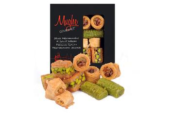 Luksusowy Baklava asortyment pistacjowy słodki XSmall rozmiar ręcznie wykonany ok 12 sztuk Bitesize Baklawa turecki asortyment Baclava tanie i dobre opinie Mughe Gourmet TR (pochodzenie) Gotowanie pochodnie Narzędzia do deserów