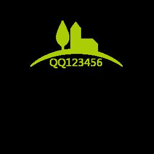 绿色圆弧大树和房子网店logo在线制作