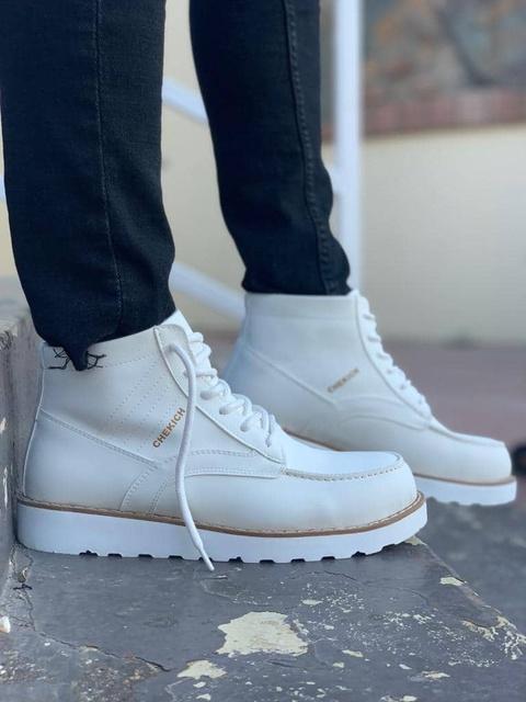 Chekich CH047 Süet BT White Men Boot