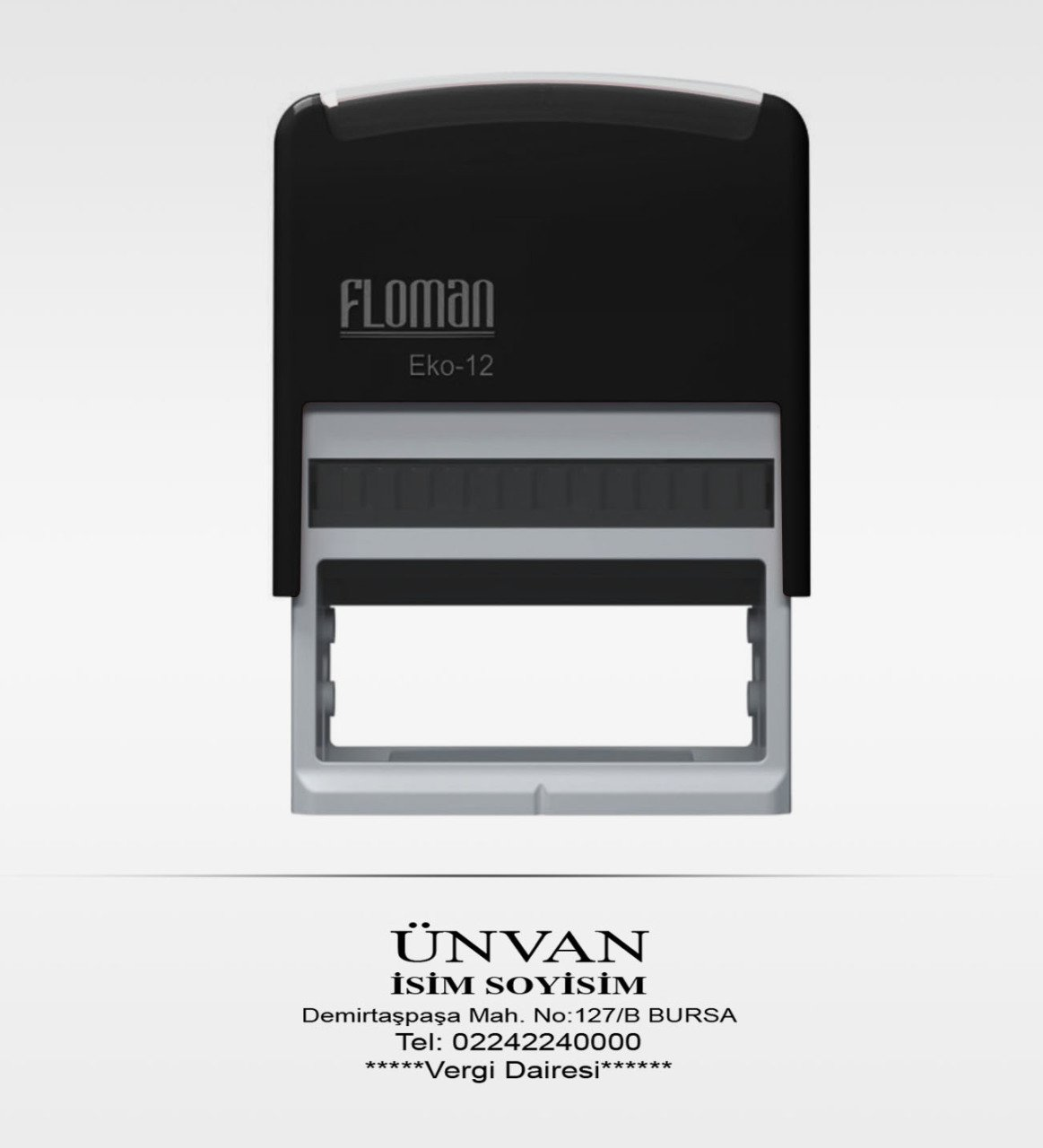 Personalized Floman Automatic Black Stamp
