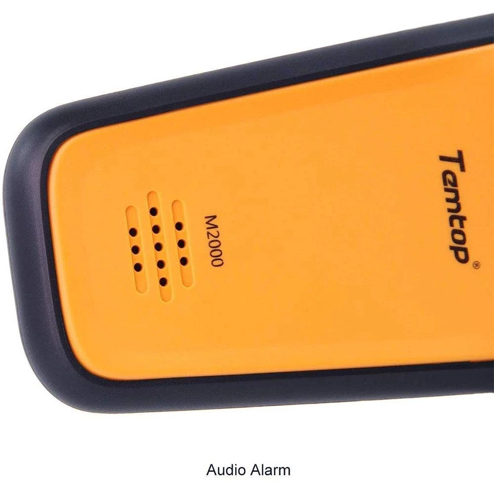Temtop M2000 مراقبة جودة الهواء ل PM2.5 PM10 الجسيمات CO2 HCHO درجة الحرارة الرطوبة تسوية الصوت إنذار تسجيل