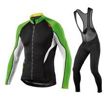 MAVIC 2019 pro custom sport cycling jersey set thermal clothing long sleeve ciclismo bicycle winter