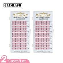 Glamlash 2 упаковки оптовая продажа ресниц 2d 6d с длинным стержнем