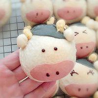 #福气年夜菜#丑萌奶牛豆沙面包的做法图解24