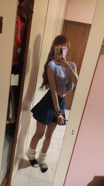 Y2K Denim Mini Pleated Skirt photo review