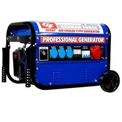 Electric generator WHEELS gasoline 5500W (1000W + 1000W + 1000W + 2500W) boot KEY MONOFASICO three phase