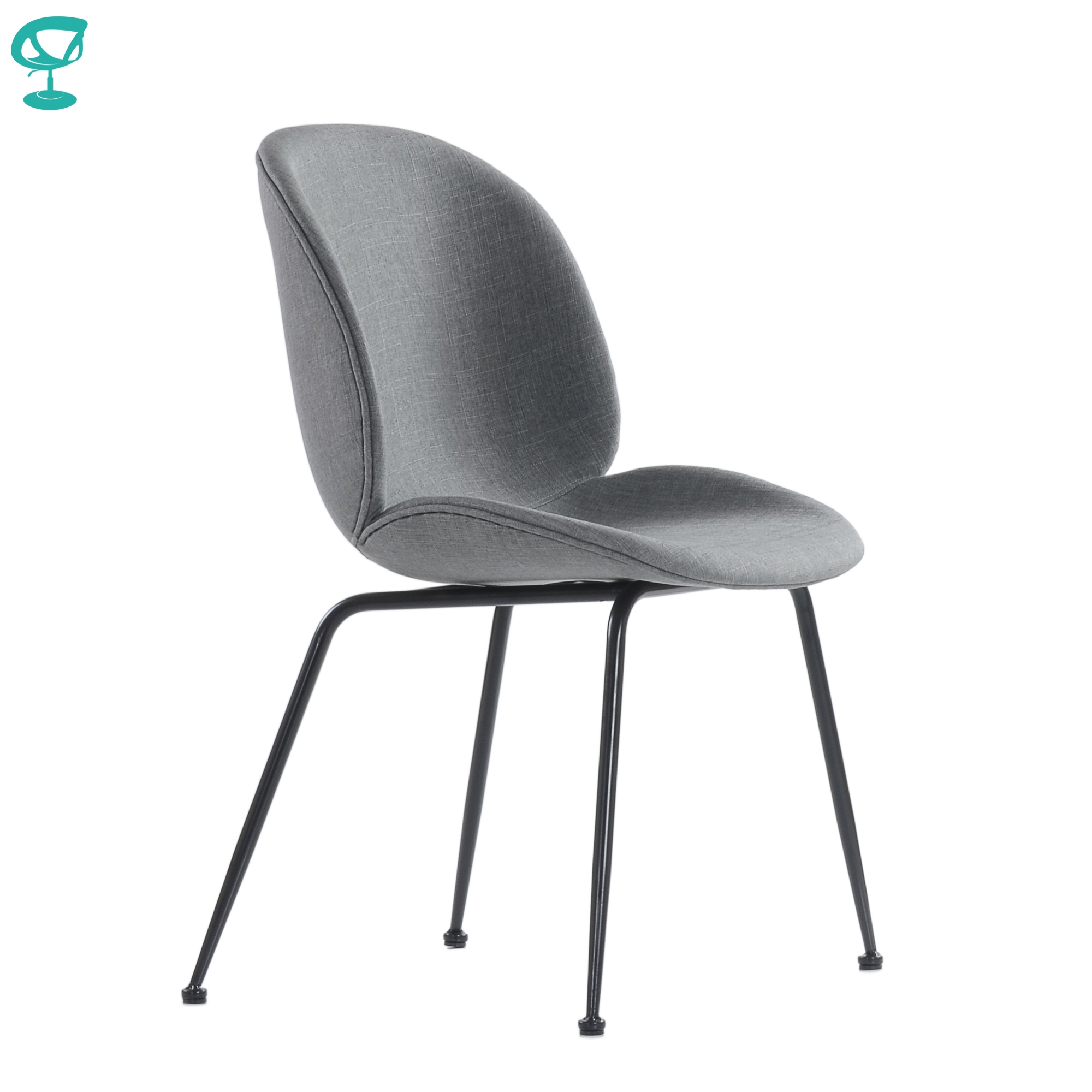 95739 Barneo S-17 Kitchen Chair On Metal Legs Seat Fabric Chair For Living Room Chair Dining Chair Furniture For Kitchen