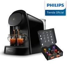 Philips L'OR, LM8012/60, Barista, Cafetera compatible con cápsula individual/doble, 19 bares presión, 1L, incluye 9 cápsulas LOR