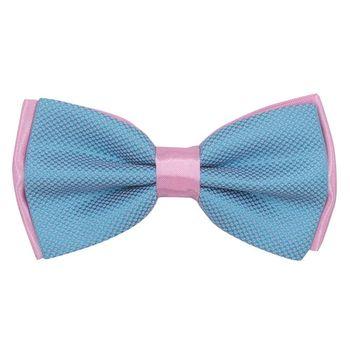 Men's bow tie (blue, microfiber) 56018