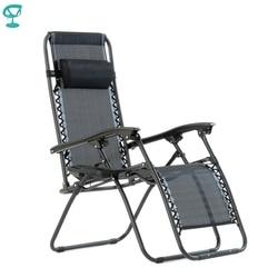 Barneo-chaise longue de jardin | Modèle 95640, noir, pliante et inclinable, avec cadre tubulaire en acier robuste, résistant, manuoline, tissu réglable