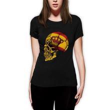 Женская футболка с изображением испанского флага мира черепом