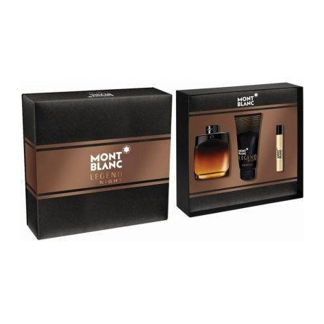 MONTBLANC LEGEND NIGHT AFTER SHAVE 100ML + 100ML + MINI 7,5ML