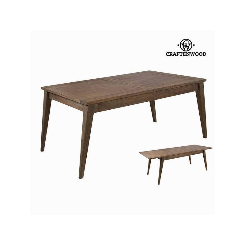 Extendable Table Wood Mindi (160x90x80 Cm)-The Collection Ellegance By Craftenwood