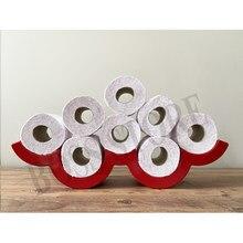 Portarotolo multiplo per WC rotolo di carta igienica accessori per il bagno foglio Rack a parete nuovo moderno Designer di archiviazione solista volante