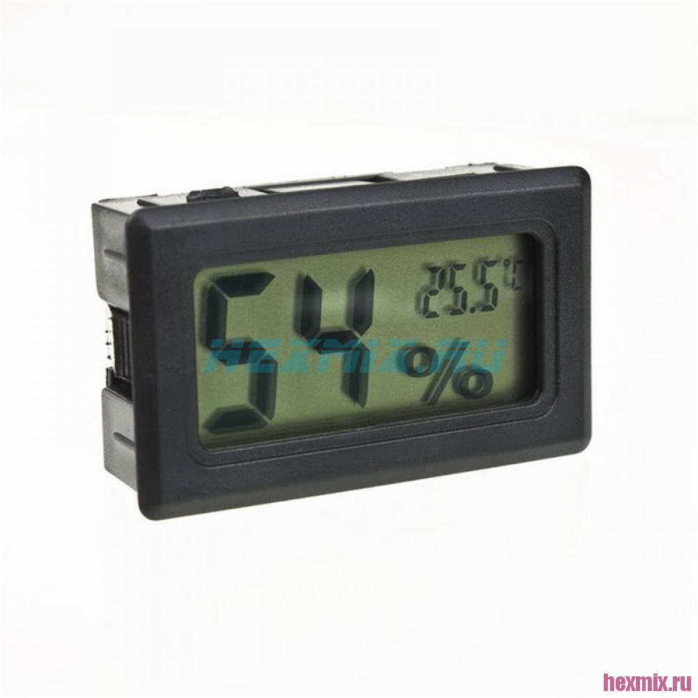 Mini Temperature And Humidity Meter (color-black)