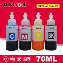 Hinicole 4 x 70 ML Bottle Refill Dye Ink Kit For Epson L100 L110 L132 L200 L210 L222 L300 L362 L366 L550 L555 L566 Printer Ink(China)