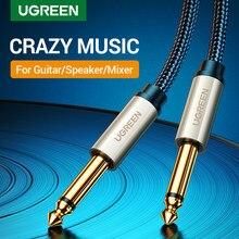 Ugreen 6,5mm Jack Audio Kabel Nylon Geflochtene 6,35 Jack Stecker auf Stecker Aux Kabel 1m 2m 3m 5 m für Gitarre Mixer Verstärker Bass 6,35mm