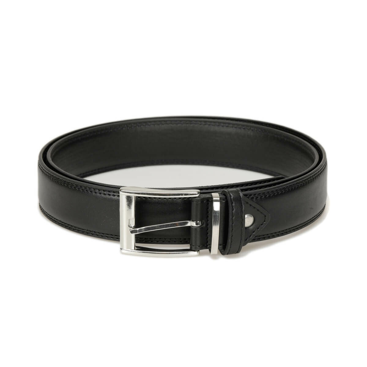 FLO MKLT3402 Black Male Belt Garamond