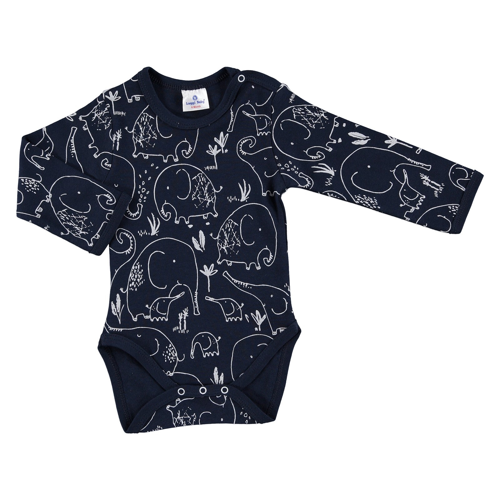 Ebebek Luggi Winter Baby Boy Mom Elephant Emprime Long Sleeve Bodysuit