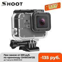 SHOOT podwodna wodoodporna obudowa do GoPro Hero 7 6 5 czarna biała srebrna obudowa ochronna do Go Pro Hero 7 6 akcesoria