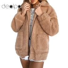 Шуба женская пушистая куртка тедди зимнее пальто Тедди женские шубы из искусственного меха Медвежонок Толстая Теплая Флисовая Куртка пушистые куртки плюс размер 3XL пальто