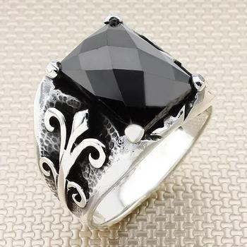 925 Sterling Silver Real Gemstones High Quality, Crystal Stone, 925 Sterling Silver, Men's Ring, Men's Wedding Rings, Men's Jewe