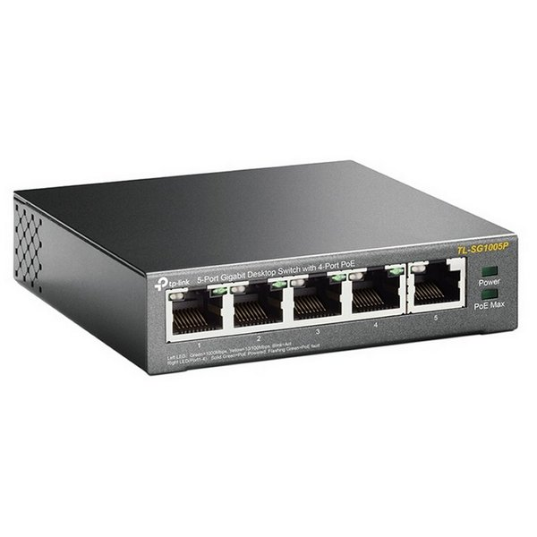Desktop Switch TP-Link SG1005P LAN PoE Grey