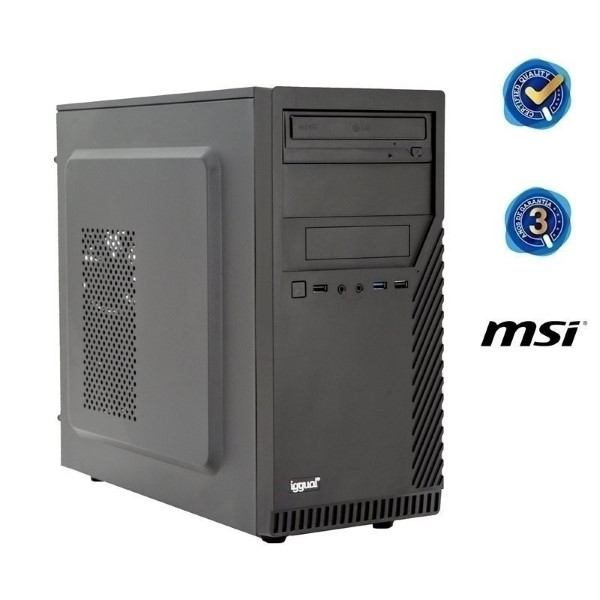 Desktop PC Iggual PSIPCH428 I7-9700 8 GB RAM 240 GB SSD Black