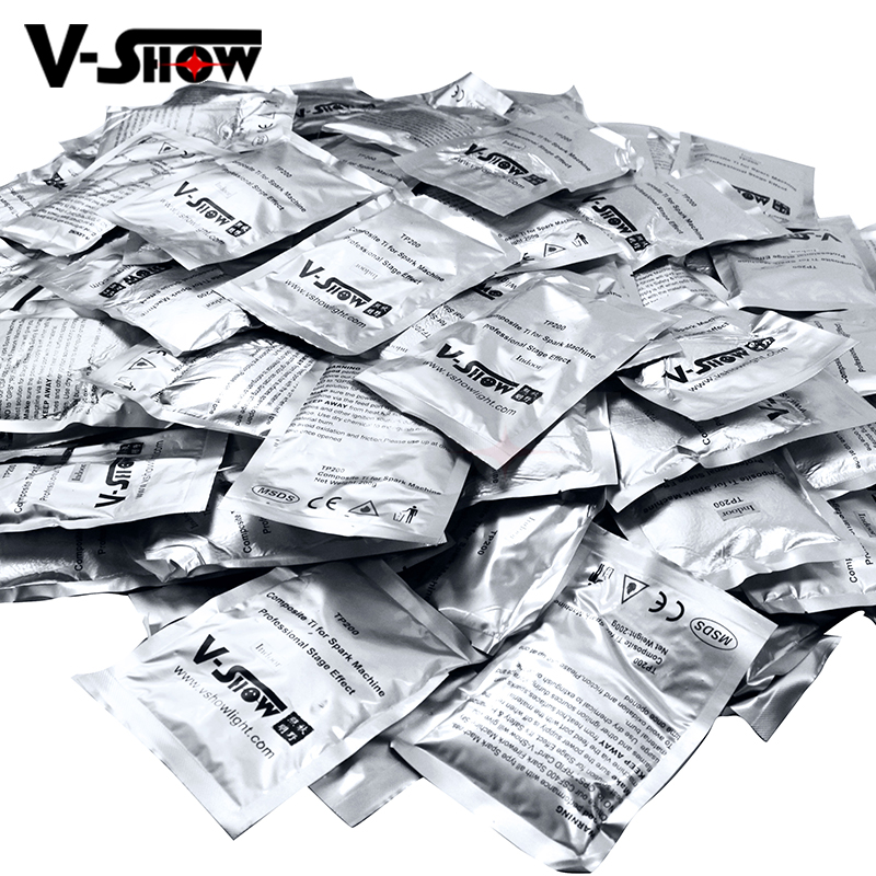 8 Bags Ti Powder 200g/bag For Cold Spark Machine Fountain Fireworks In Wedding And Stage