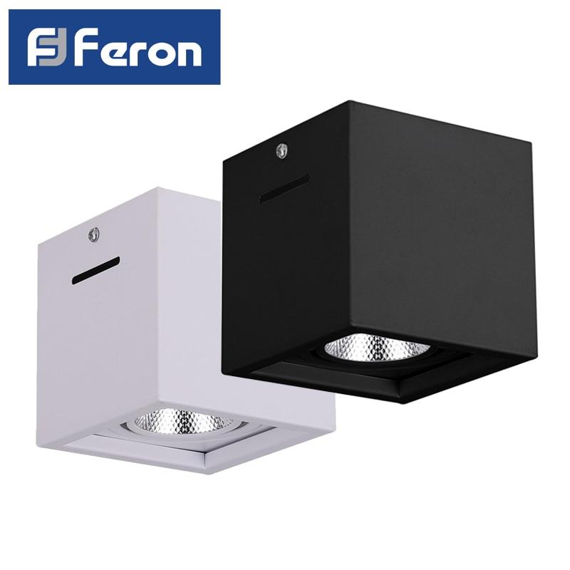LED Downlight spot Feron AL522 patch 7W 15W 4000K White Black