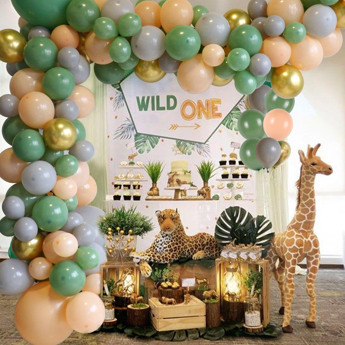 Wayfun 152pcs Avocado Green Balloon Garland Arch Birthday Party Decoration Baby Shower Wedding Valentine Party Balloon Supplies