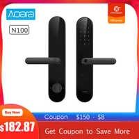 AQara N100 Smart Door Lock Fingerprint NFC Password Unlock Smart Home Work with Apple HomeKit Mijia APP