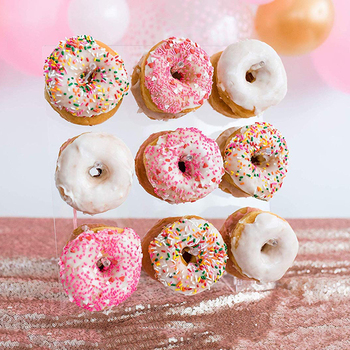 Donut Wall Acrylic Donut Holds Candy Sweet Display Rack for Birthday Party Supplies Baby Shower Wedding Table Decorations