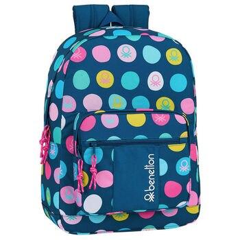 Portable backpack Benetton Navy 43cm