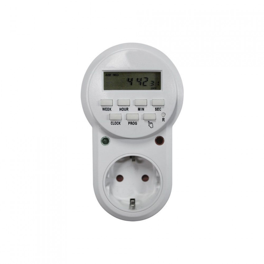 Plug Electric Programmer Digital 8 Programs White 7hSevenOn Home