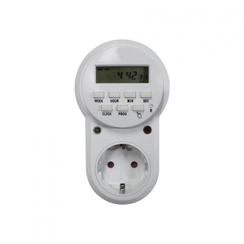 Plug Electric Programmer Digital 8 Programs White 7hSevenOn Home