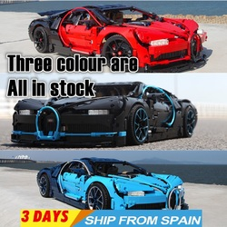Technic supercar race car Bugatti Chiron 3786 PCs construction blocks