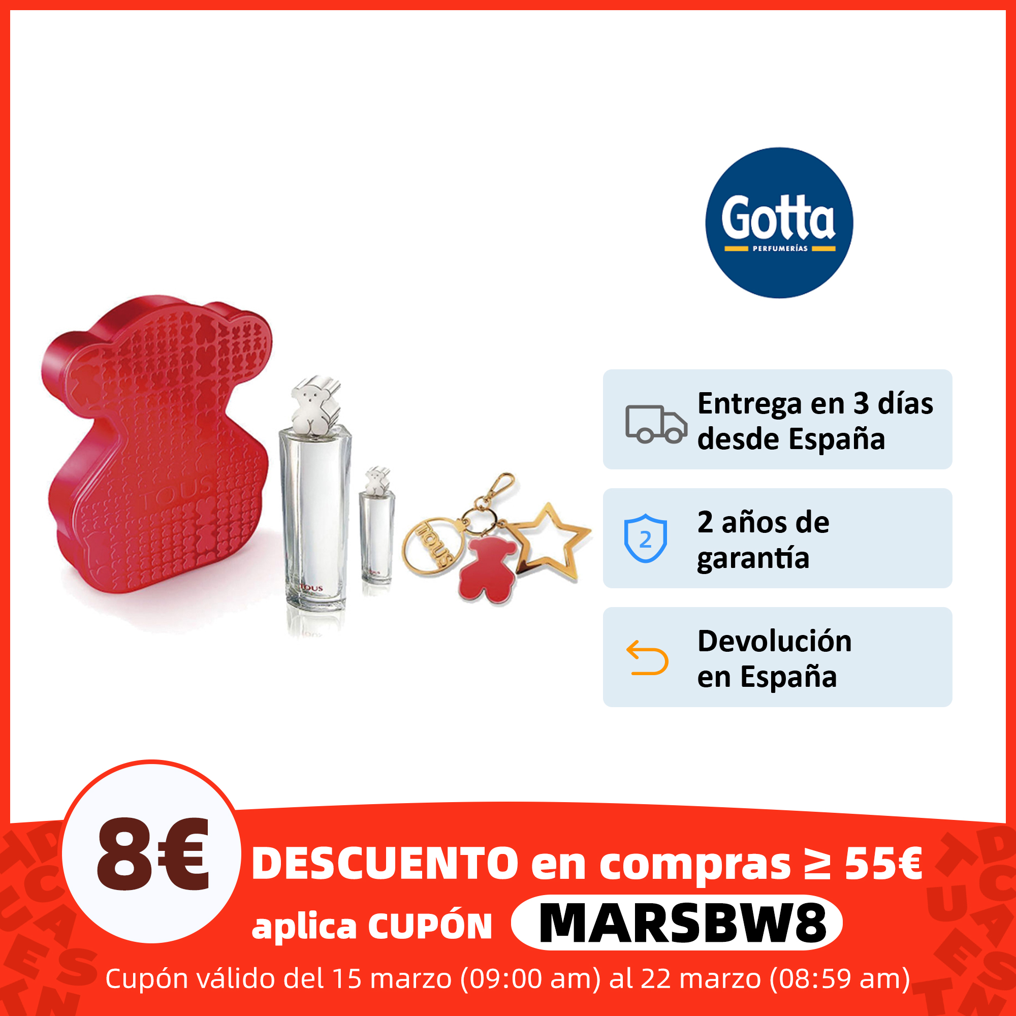 Estuche Bolso Tous eau the toilette Perfumes mujer kit tous marca Tous fragancias y desodorantes    - AliExpress