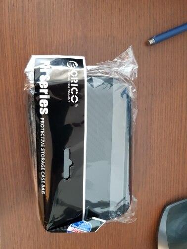 ORICO 2.5 Hard Disk Case Portable HDD Protection Bag for External 2.5 inch Hard Drive Earphone U Disk Hard Disk Drive Case Black reviews №5 144272
