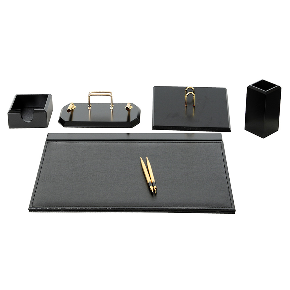Luxury Wooden Flas Desk Set 6 Pieces