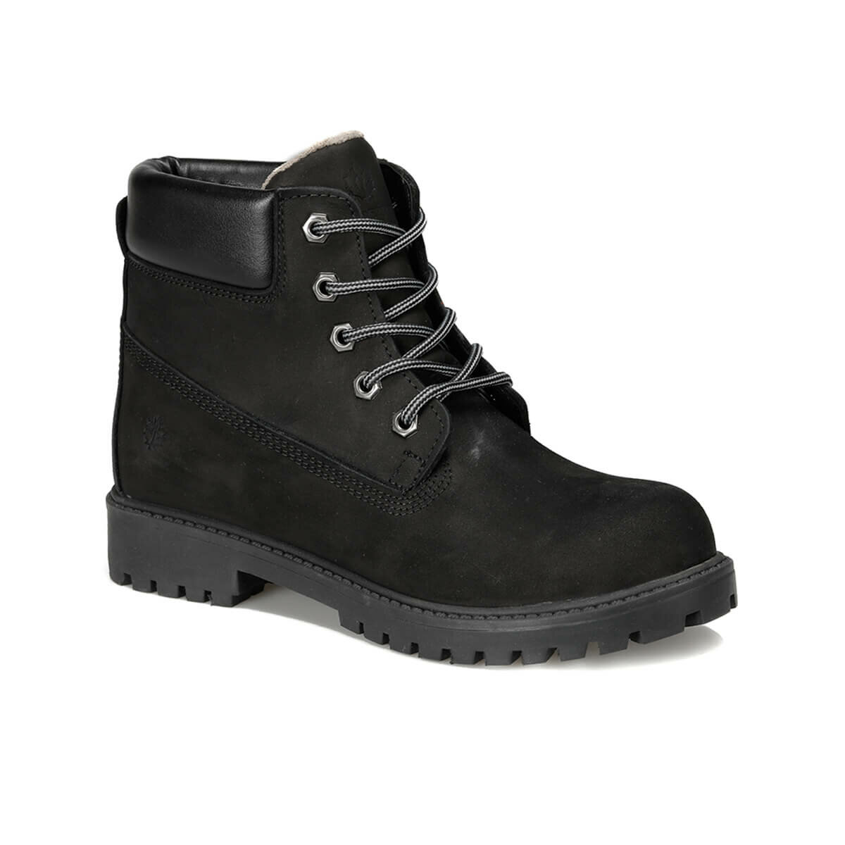 FLO ROANA 9PR Black Male Child Hiking Shoes LUMBERJACK