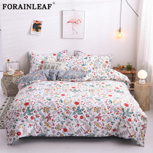 Pillowcase Duvet-Cover-Set Bedding-Set Floral Polyester 220x240 Nordic Single Bed-Sheet