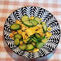 #太太乐鲜鸡汁芝麻香油#黄瓜炒鸡蛋的做法图解9