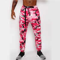 Pantalones de Hip Hop rosa para hombre, pantalones Cargo de camuflaje para hombres, pantalones de camuflaje para hombres