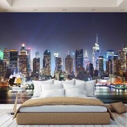 3D Foto Tapete wand papier Nacht Stadt, tapete benutzerdefinierte, halle, küche, schlafzimmer, kinder, foto tapete verbessern raum